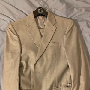 Jos. A Bank suit 38R, pants 32R. Light gray